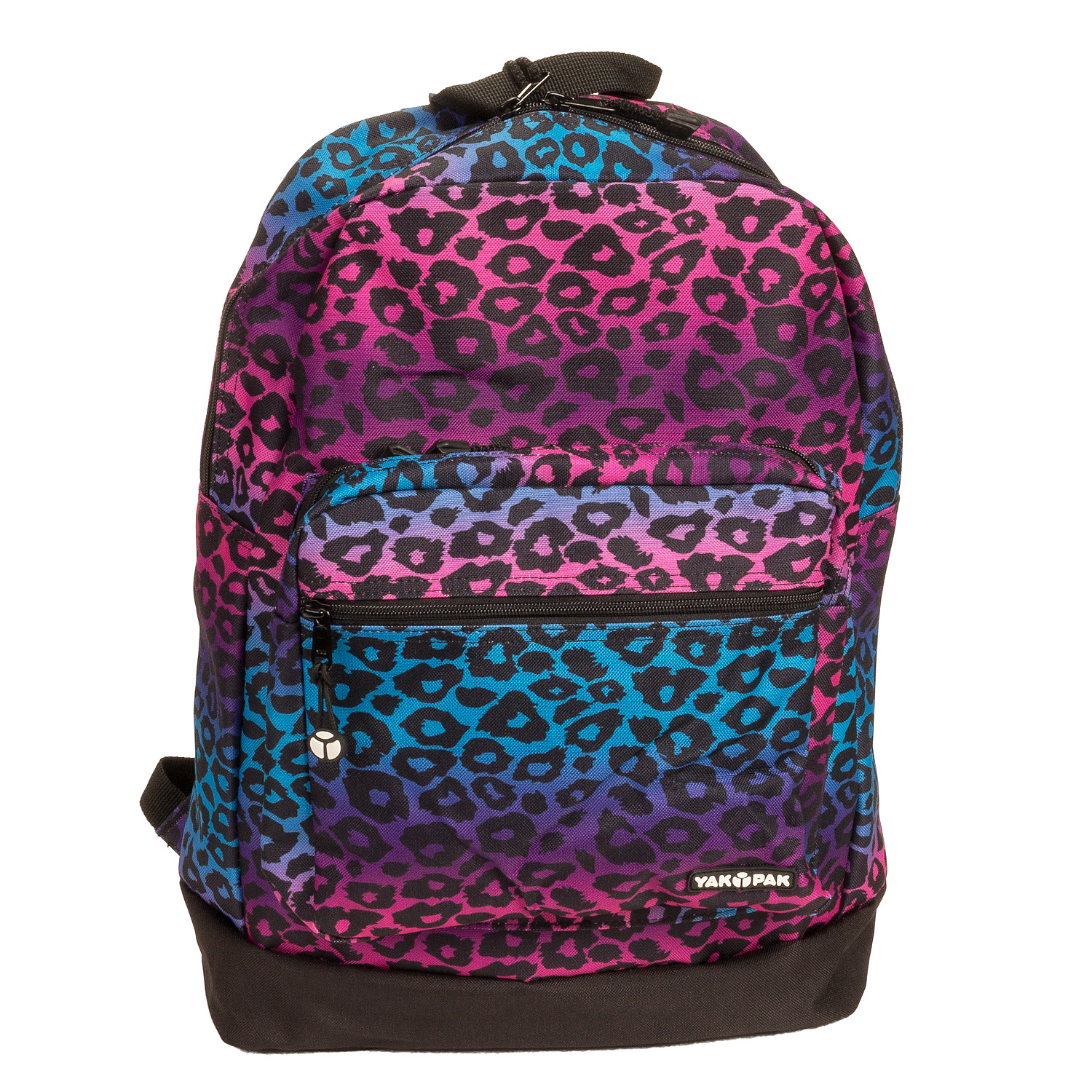 Yak Pak Purple Ombre Leopard Deluxe Backpack - Student School Laptop ...