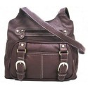 Roma Leathers Brown Leather Pistol Concealment Shoulder Bag