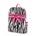 Belvah Black & Fuchsia Quilted Zebra Medium Backpack