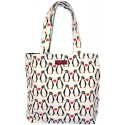 Bungalow360 Penguin Print Vegan Canvas Reversible Tote Bag