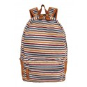 J. Carrot Multicolor Striped Fleece Backpack Bag