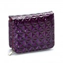 Patent Purple Houndstooth Crossbody Handbag