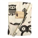 "Flipped Bird Reversible Owl Print/Pink & Grey Chevron ""Tickled Pink Hooty"" Tiny Bag"