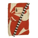 "Flipped Bird Reversible Red Flowers/Striped ""Twirly Loves Stripey"" Tiny Bag"