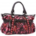 Iron Fist Black, Pink & Red Muerte Punk Princess Vegan Handbag