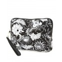 Belvah Black & White Quilted Floral Ipad Case