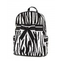 Belvah Black & White Quilted Zebra Medium Backpack