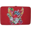 Red Tattoo Flat Wallet