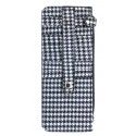 Houndstooth Multi Card Case Stacker Wallet