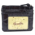 Buxton Black Croc ID Coin Card Case