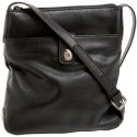 Lodis Black Paola Tab Chic Messenger Bag
