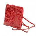 Mundi Red Crossbody Designer Dasher Croco