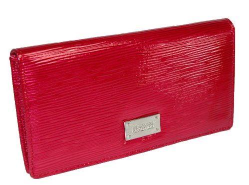 Kenneth Cole Reaction Women Red Slim Clutch Wallet